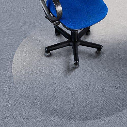 -[ etm Polycarbonate Non Slip Chair Mat for Carpets | Round | 60cm Diameter | 3 Sizes  ]-