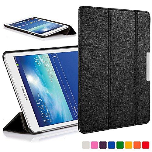 ForeFront Cases® Leder-Schutzhülle, Klappbar, Für Samsung Galaxy Tab 3Lite 7.0T110,Voller Geräteschutz Und Smarte Automatische Schlaf-Weck-Funktion