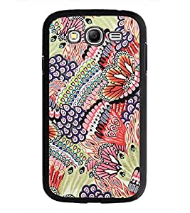 PrintDhaba Floral Pattern D-2067 Back Case Cover for SAMSUNG GALAXY GRAND I9082 (Multi-Coloured)