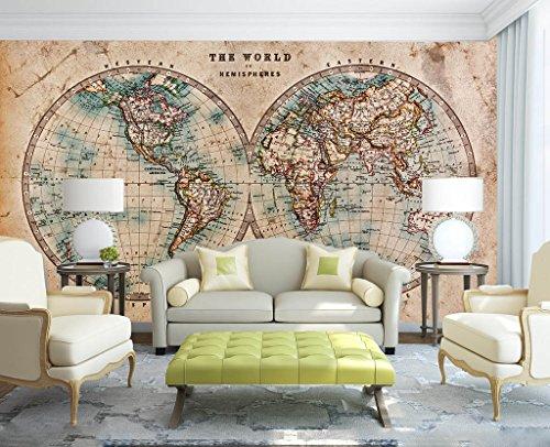 3D Hemisphäre Karte 092 Tapeten Drucken Abziehbild Deko Innen Wandgemälde Selbstklebend Tapete AJ WALLPAPER DE Zoe (gewebt Papier (Notwendigkeit Leim), 【 82