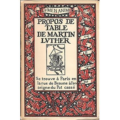 Propos de Table de Martin Luther (livre premier)