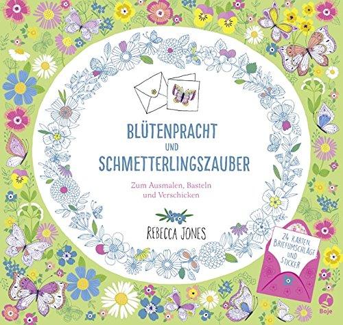 Buchseite und Rezensionen zu 'Blütenpracht und Schmetterlingszauber' von Rebecca Jones