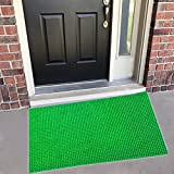 Yellow Weaves™ Dust Remover Turf Doormat for Offices,Hotel,Restaurant, Home,Shop -Color- Green, Size : 60 X 90 cm