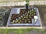 Grabstein Orion Urnengrabstein Grabmal Granit Grabanlage Grabmal mit Grabumrandung 80cm x 80cm inklusive Grabplatte und Gravur