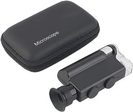 ACEHE Mini Portable Microscope Pocket 200X~240X Handheld LED Lamp Light Loupe Zoom Magnifier Magnifying Glass Pocket Lens