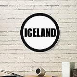 DIYthinker Dänemark Land Name Art Malerei Bild Photo Holz-Rund Rahmen Ausgangswand-Dekor-Geschenk Small Schwarz