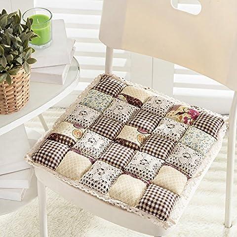 CLG-FLY Lace cojín acolchado cojín de asiento de coche silla de comedor lindo cojines cojín cojín de la silla de oficina,45x45cm