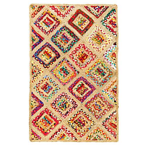 Aakriti Gallery Alfombra de algodón y Yute