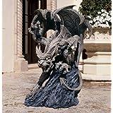 Design Toscano Scatheus, Wächter der Schatten, Gargoyle-Skulptur