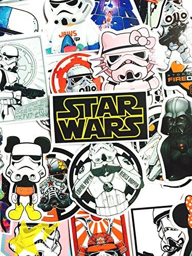 AUFKLEBER star wars Vinyl (25 STUCK), Aufkleber 25 Stück Sticker Graffiti für Auto/ Fenster/ Wand/ Laptop sticker bomb star wars Sticker Aufkleber Trooper Darth Vader Comic Film Cars Film-wand-aufkleber