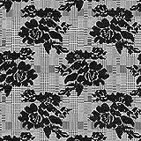 Fabulous Fabrics Jaquard Stoff Karo & Rosen – grau —