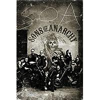 Póster Sons of Anarchy/Hijos de la Anarquía Vintage/Antaño (61cm x 91,5cm) + 2 marcos transparentes con suspención