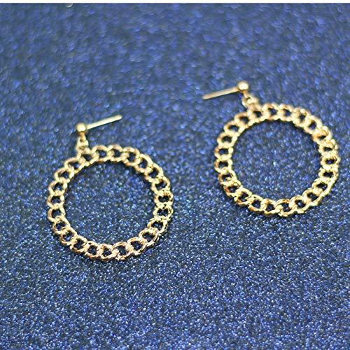 LEIANDYAN Ohrringe Big Glatte Kreis Ohrringe Basketball Promi Marke Schleife Ohrringe für Frauen Schmuck