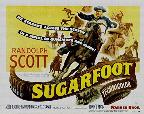 sugarfoot-randolph-scott-adele-jergens-1951-foto-reimpresion-pelicula-posters-36x28-pulgadas-sin-mar