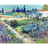 Cuadro sobre lienzo 100 x 80 cm: The Garden at Arles de Vincent van Gogh - cuadro terminado, cuadro sobre bastidor, lámina terminada sobre lienzo auténtico, impresión en lienzo