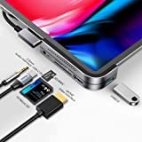 Usb C Adattatore, Baseus Type C iPad PRO 11 12.9 2020 2018 Hub, USB-C Adattatore 6 in 1 HDMI / Audio Jack 3.5 mm / USB 3.0(5G
