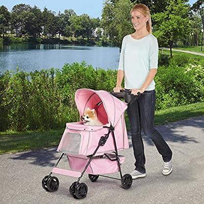 Guardian Gear Promenade Pet Stroller, Pink 3