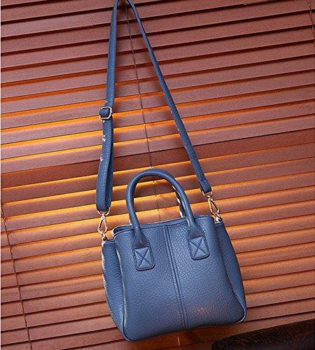 Eysee, Borsa tote donna blu White 25cm*25cm*14cm nero