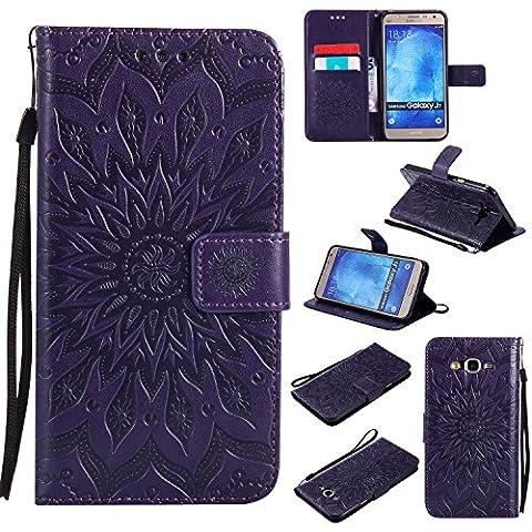 For Samsung Galaxy J7 Case [Purple],Cozy Hut [Wallet Case] Magnetic