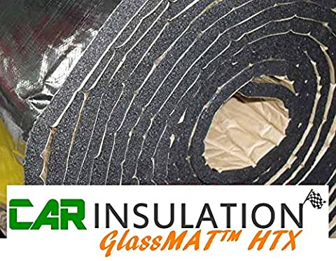 High Temperature Reflective Engine Bay Thermal Acoustic Bonnet Insulation Sound Proofing GlassMAT 1m x 5m 10mm - Alta Isolamento Termico