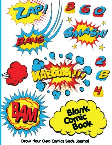 """Blank Comic Book. Draw  Your Own Comics Book Journal: Idea and Design Sketchbook, 110 Pages, Large 8.5"""" x 11"""", Variety of Templates For Comic Book Drawing ( Blank Comic Notebook )"""