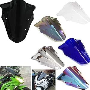 Blau Motorrad Doppelte Blase Autobike Windschutzscheibe Windabweiser Luftstrom Passt f/ür Kawasaki Z1000 2003-2006