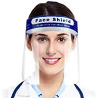 Case Creation Face Shield Mask Protection from Virus,Bacteria,germs protection with full 180 Degree Protective Cover - Pack of 1