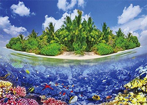 YongFoto 1,5x1m blau ocean Hintergrund Island Palm Baum Hintergründe für die Fotografie Fisch Coral Seaside Sand Beach Vinyl Foto Hintergrund Kinder Erwachsene Summer Holiday Studio Requisiten