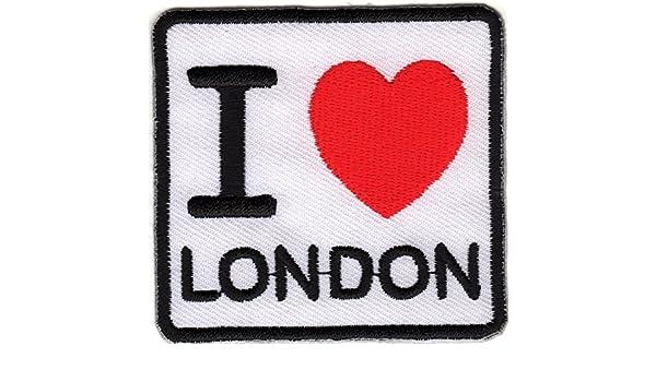 Stemma Ricamato Toppe stampati Toppe Termoadesivi Iron-On Patch I Love London Emblem Badge England