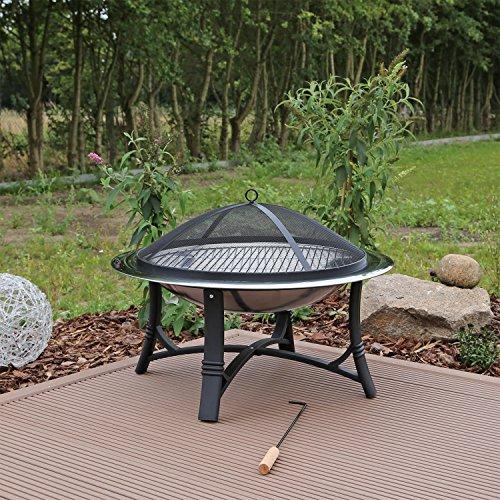 *Feuerschale Edelstahl FS2 Feuerstelle Garten mit Grillrost*