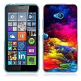 Fubaoda Coque Nokia Microsoft Lumia 640, Artistique Série Étui TPU Silicone élégant et Sobre pour Nokia Microsoft Lumia 640