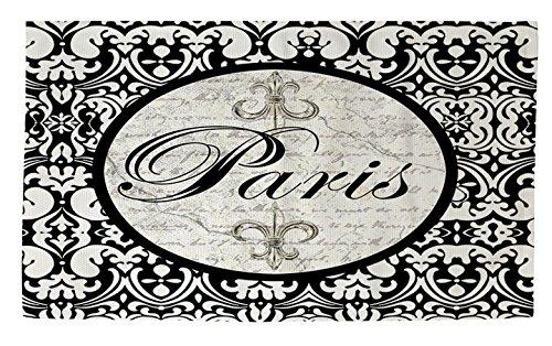 Manuelle holzverarbeiter & Weavers Dobby Bad Teppich, 4von druckknopfstiel, Paris Kreis Damast -