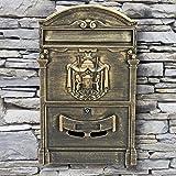 Briefkasten Retro Antik Vintage Postkasten Wandbriefkasten Alu SN3663-3