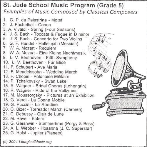 St. Jude School Music Program