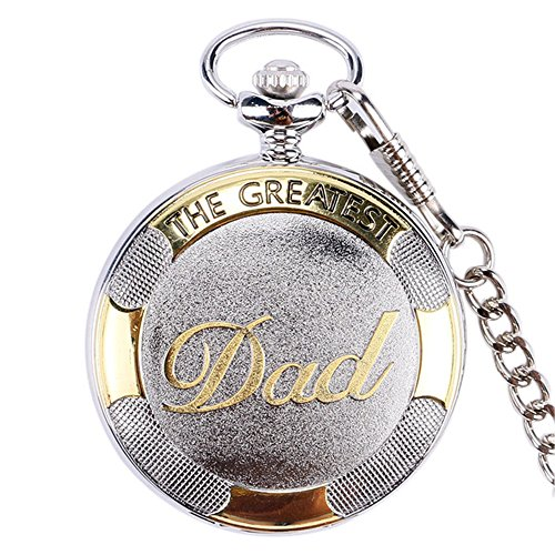 The Greatest Dad Retro poliert Silber & Gold -