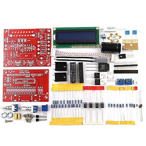 KKmoon 0-28V 0.01-2A DIY Kit DC Alimentation Réglable/ Affichage LCD /Protection contre Court-Circuit et Limiteur de