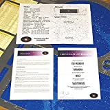 Name a Star Stellar Present. Includes Astronomy Chart, Area Coordinates Sheet, Certificate of Registry
