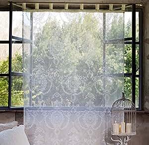 Tenda Pizzo Shabby Chic 140 x 290 cm Blanc Mariclo Colore Naturale