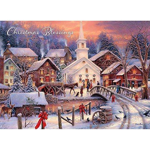 Legacy Publishing Gruppe mit Box Holiday Grußkarten Schrift, Weihnachtsstern (hbx40948) - Box Volkskunst