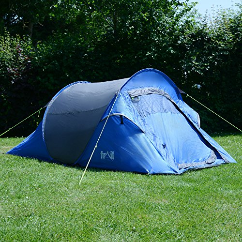 2 ... & 2 Man Double Skin Pop Up Tent Festival Camping With Porch ...