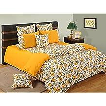 Yuga Decoración Impreso Decorativo Amarillo Doble edredón tamaño de 60 x 90 pulgadas