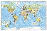 Weltkarte politisch mit Flaggenrand