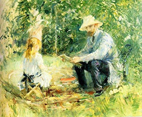 Das Museum Outlet-1883Eugene Manet und seine Tochter mit den Garten-Poster (61x 81,3cm)