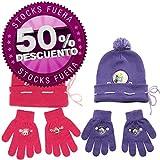 Gorro y guantes surtido Pitufina - Los Pitufos - Violeta