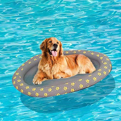 Aufblasbar Schlauchboot Hunde Boot Haustier Luftmatratze Schwimmbad Strand Spielzeug, Grau (Spielzeug, Float Boot)