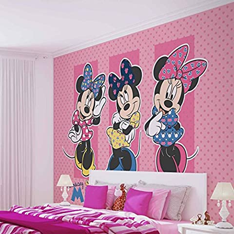 Disney Minnie Mouse - Forwall - Fototapete - Tapete - Fotomural - Mural Wandbild - (1677WM) - XL - 254cm x 184cm - Papier (KEIN VLIES) - 2 Pieces