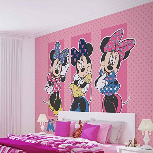 *Disney Minnie Mouse – Forwall – Fototapete – Tapete – Fotomural – Mural Wandbild – (1677WM) – XXL – 368cm x 254cm – Papier (KEIN VLIES) – 4 Pieces*