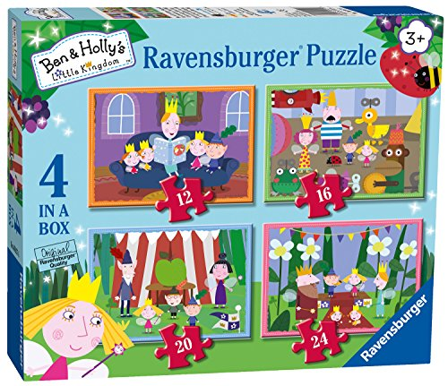 Ravensburger Ben & Holly, 4in Einer Box (12, 16, 20, 24PC-) Puzzle - 12 Holly