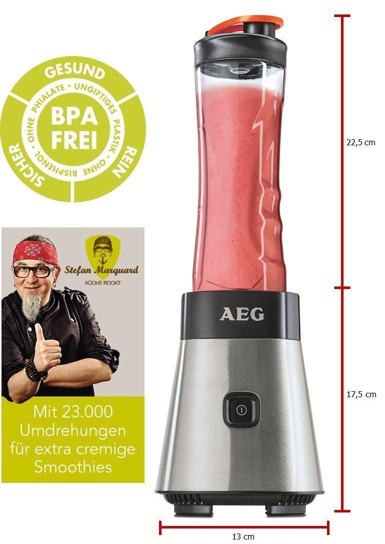 AEG-Standmixer-Smoothie-Mini-Mixer-mit-Power-Motor-extra-Tritanflasche-und-hochwertigen-Edelstahlmessern