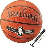 Spalding Basketball für Kinder & Erwachsene Outdoor Street Ball Größe 3 5 6 7 (3 mit Ballpumpe)